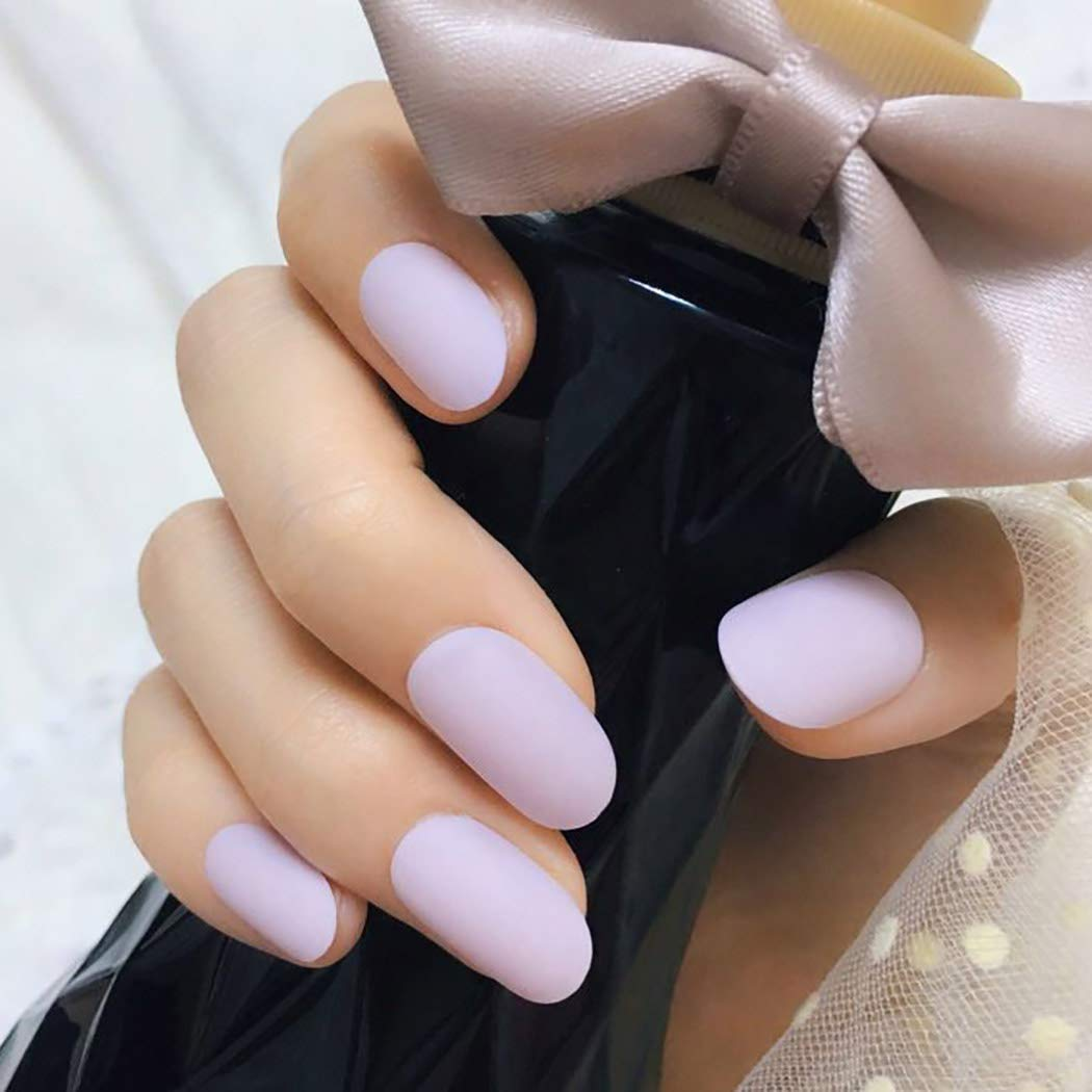 Sethexy Matte False Nails Oval Pink De Cheap bargain Full Art Cover Long Quality inspection Salon