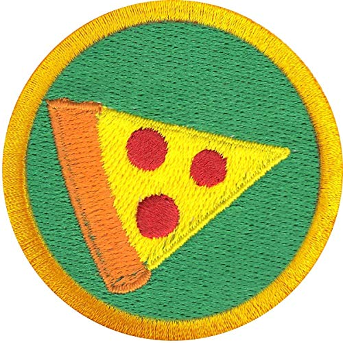 Pizza Party Badge Patch Food Wilderness Scout Sash Iron On Embroidered