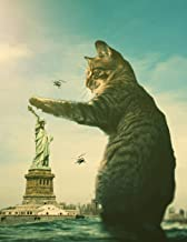 Notebook: Fantasy Cat Statue of Liberty New York United States 8.5