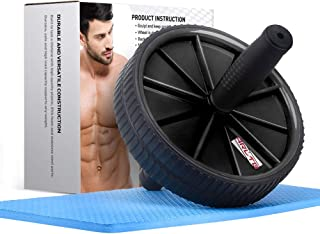 Arltb Ab Wheel Roller (5 Colors) with Free Knee Mat and Anti-Slip Handles and Storage Box Perfect Abdominal Core Carver Fitness Workout for Abs Exercise and Strengthen Your Abs and Core