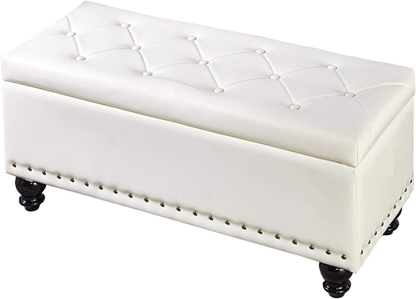 Faux-Leather Rectangular Storage Super beauty product restock quality top! Ottoman Stoo New product Foot Bench Bedroom