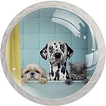 Lade handgrepen trekken decoratieve kast knoppen dressoir lade handvat 4 stuks,Hond catin bad