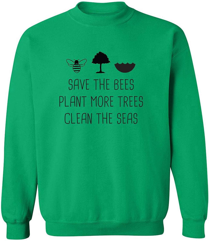 Save The Bees Plant More Trees Crewneck Sweatshirt