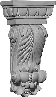 Ekena Millwork COR05X02X09CO-CASE-2 5 inch W x 2 5/8 inch D x 9 3/4 inch H Colton Leaf Corbel (2-Pack),