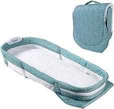 Baby Nest Bed Baby Bassinet ReciéN Nacido Infantil Cunas PortáTiles Cunas Cuna CojíN 100% AlgodóN Transpirable con Luz Nocturna Y Caja De MúSica