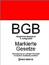 BGB, Bürgerliches Gesetzbuch, Smarte Gesetze, Markierte Gesetze: Hervorhebung von wichtigen Textstellen für Studium, Ausbildung und Beruf (German Edition)