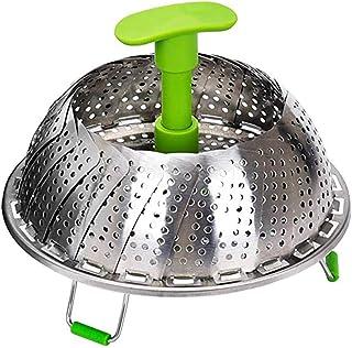 comprar comparacion Faneli - Accesorio de cocina al vapor de acero inoxidable para olla, con mango extensible anticalor y patas antideslizante...
