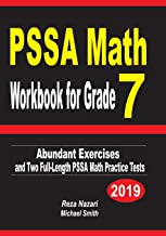 PSSA Math Workbook for Grade 7: Abundant Exercises and Two  Full-Length PSSA Math Practice Tests