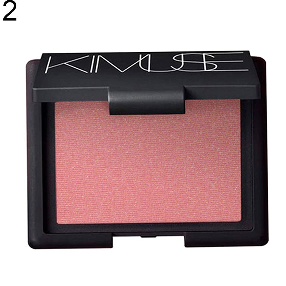wewa98698 Kimuse Exquisite Bake Blusher Palette, Waterproof&Long Lasting, Facial Makeup with Mirror&Brush Set for Women - 2#