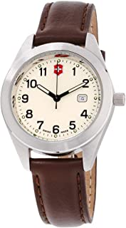 Victorinox Garrison Beige Dial Leather Strap Men's Watch 26029CB