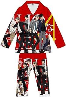 Pyjama Sets Anime Ninja Teens Loungewear Soft Comfortable Pajamas Top & Bottoms 2 Piece