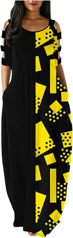Women Summer Spaghetti Strap Max 70% OFF Plus Size Albuquerque Mall Maxi Dress Boho Cami Casu