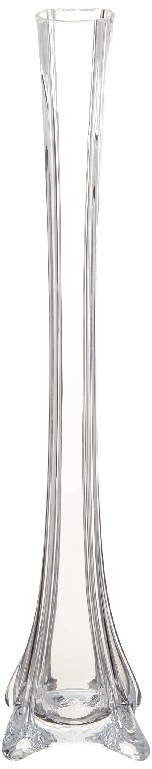 "Modern Glass Tower Vase for Wedding Height-16/"" Top white"
