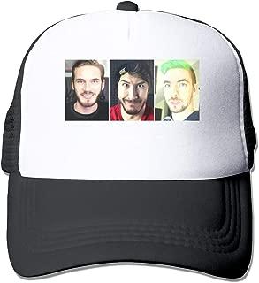 HOTSELL-Makemoney.forever Pewdiepie Vs Markiplier Vs Jacksepticeye, Fashion Mesh Hat Adult Cap Unisex Summer Adjustable
