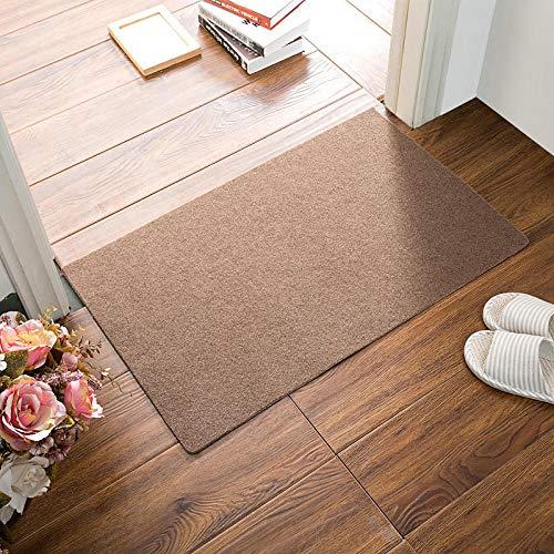 kanglang Tappetini da Cucina tappetini Antiscivolo tappetini da Bagno tappetini assorbenti per la casa-Pure Color Cammello_80 * 120 cm