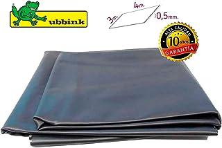 Ubbink 1331166 Lámina para estaques cortada en rectángulo de 3 x 4 m. Liner 0,5 mm. de Grosor, Negro