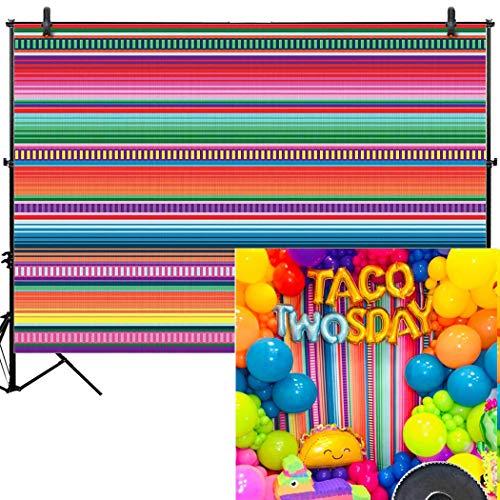 Allenjoy 7x5ft Color Fiesta Theme Party Stripes Backdrop Cinco De Mayo Mexican Festival Photography Background Cactus Banner Decoration Event Table Decor Banner Background Children Photo Booth Shoot