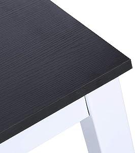 Ejoyous Scrivanie,Computer Desk, Postazioni di Lavoro Compatta, Robusta Tavolo da Pranzo Tavoli riunioni per casa e Ufficio Studio e Scrittura(Nero)