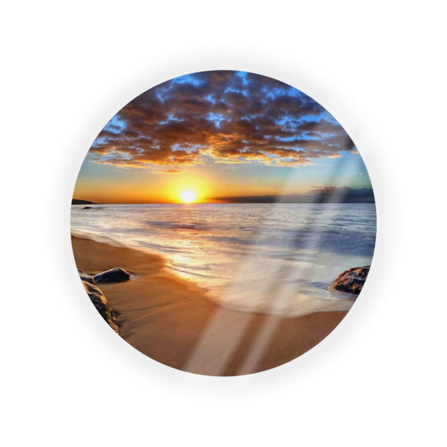 Beach New Free Shipping Sunset Portable Round Make-up Factory outlet Air Cushion Container Powder