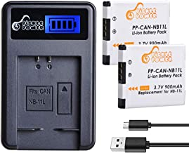 NB-11L NB-11LH, Pickle Power (x2) Batteries and Smart LCD USB Charger Compatible with Canon PowerShot A2300 is, A2400 is, A2500, A2600, A3400 is, A3500 is, A4000 is, ELPH 110 HS, ELPH 115, ELPH 130 HS