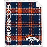 Pegasus Home Fashions Denver Broncos 60'' x 70'' Plaid Ultra Fleece Sherpa Throw Blanket