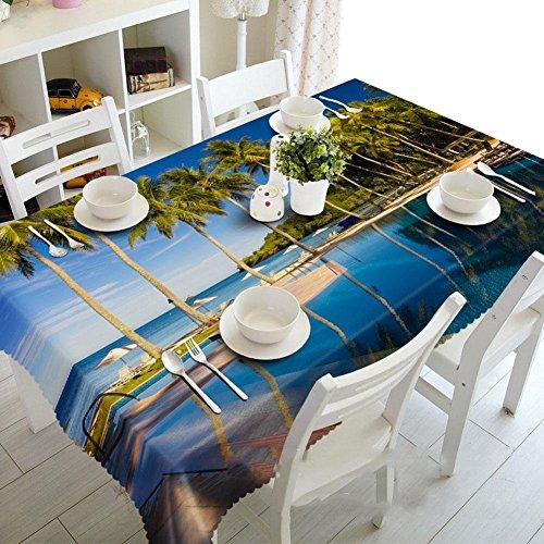 Chen Manteles Mesa de Centro Mantel Moderno Minimalista Tela Tela Rectangular IKEA Estilo nórdico Paño de Tela Mantel de Tela TV Gabinete (Size : Rectangular Width 152cmx Long 228cm)