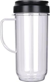 QT Replacement Part Flip Top Lid + 22oz Tall cup For 250w Magic Bullet Mugs & Cups Blender