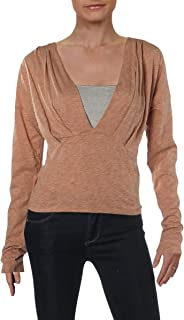 Womens Haven Plunge Long Sleeves Pullover Top