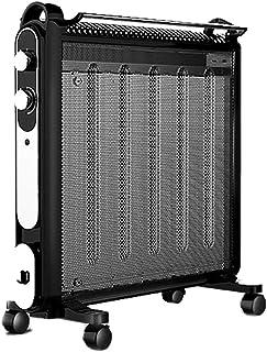 GY Calentador Vertical con Rueda Universal, 2 Pasos para Ajustar La Protección contra Sobrecalentamiento Y Descarga, para Sala De Estar Dormitorio con Radiador De Tendedero