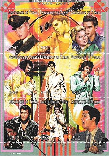 Francobolli da Collezione - Elvis Presley il Re del Rock MNH foglietto/Chad / 1997