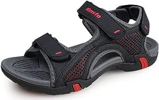 Kunsto Men's Synthetic Leather Open-Toe Sandal