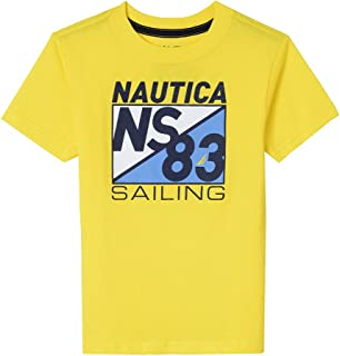 Nautica Boys' Big Short Sleeve Sailing Graphic T-Shirt