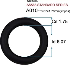 Baduseal O ring kit AS568 Standard Series 382Pcs Hydraulic o rings 30 Size O ring assortment rubber o rings (6.07X1.78 20PCS)