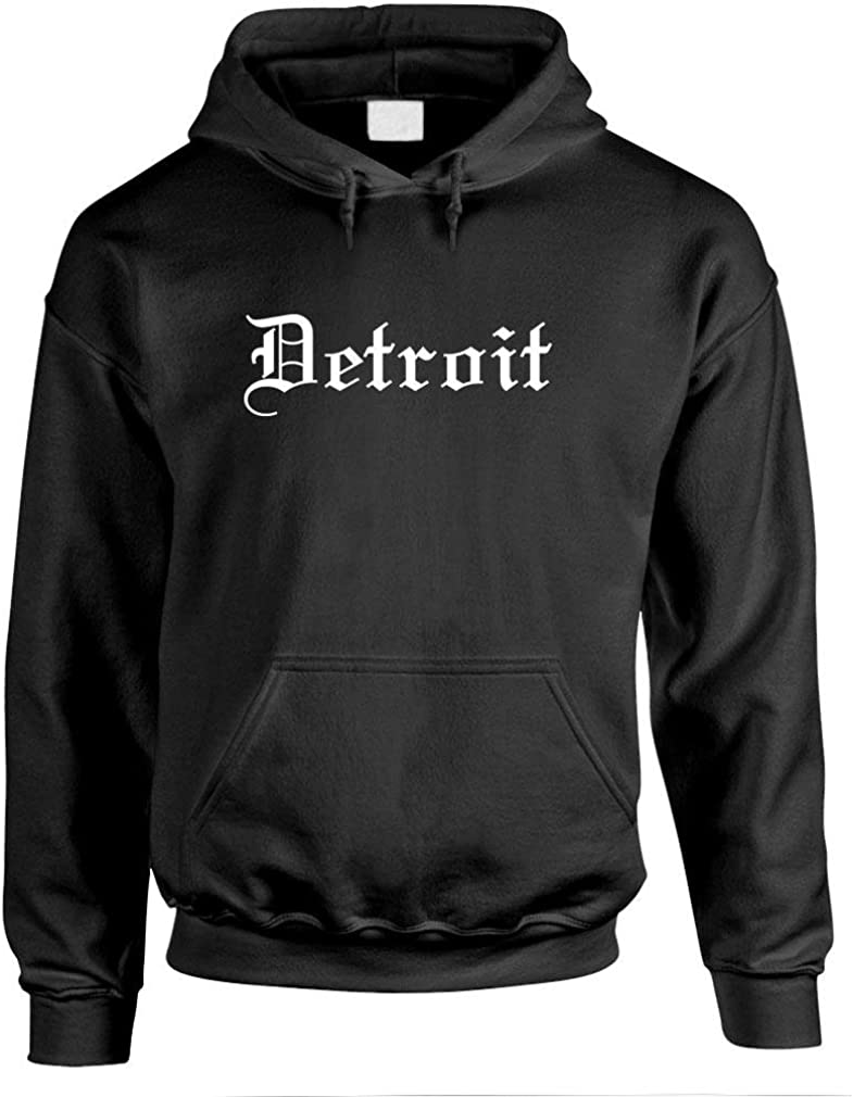 Memphis Mall DETROIT GOTHIC FONT Regular store Hoodie Pullover -