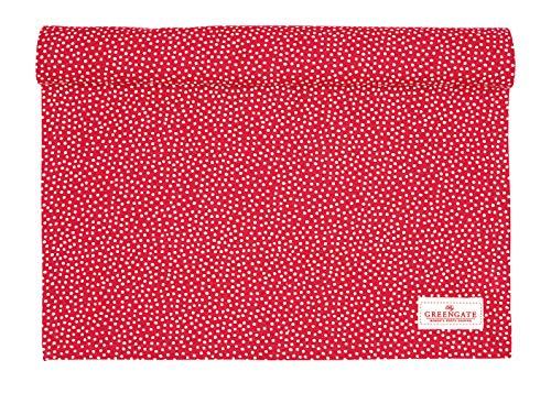 GreenGate Tischläufer Dot Red Punkte rot ca. 140 X 45 cm