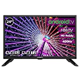 Television LED 24' HD Ready INFINITON Smart TV-Android TV (TDT2, HDMI, USB) (24 Pulgadas)
