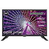 Television LED 24' HD Ready INFINITON Smart TV-Android TV (TDT2, HDMI, VGA, USB) (24 Pulgadas)