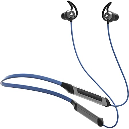Boult Audio ProBass Qcharge in-Ear Earphones with Fast Charging, 24H Battery Life, in-Built Mic, IPX5 Water Resistant Neckband (Blue)