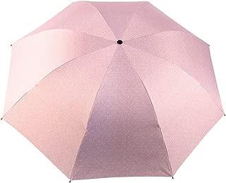 YQRYP Mini Travel Sun Rain Umbrella - Light Compact Parasol with UV Protection for Umbrella Men Women Multiple Colors Umbrella Windproof Umbrella, Golf Umbrella (Color : Pink)