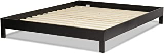 Leggett & Platt Murray Complete Wood Platform Bed with Bedding Support System and Box Design, Black Finish, Twin