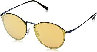 a32dbb243a Ray-Ban Kids 'Metal Unisex no polarizado Iridio anteojos de sol redondas,  azul