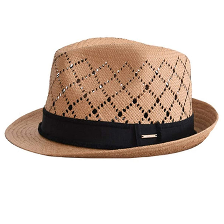 ZFDM 屋外の日よけ、日よけ、帽子、麦わら帽子、調節可能、通気性、快適、肌に優しい、旅行など (Color : 2)