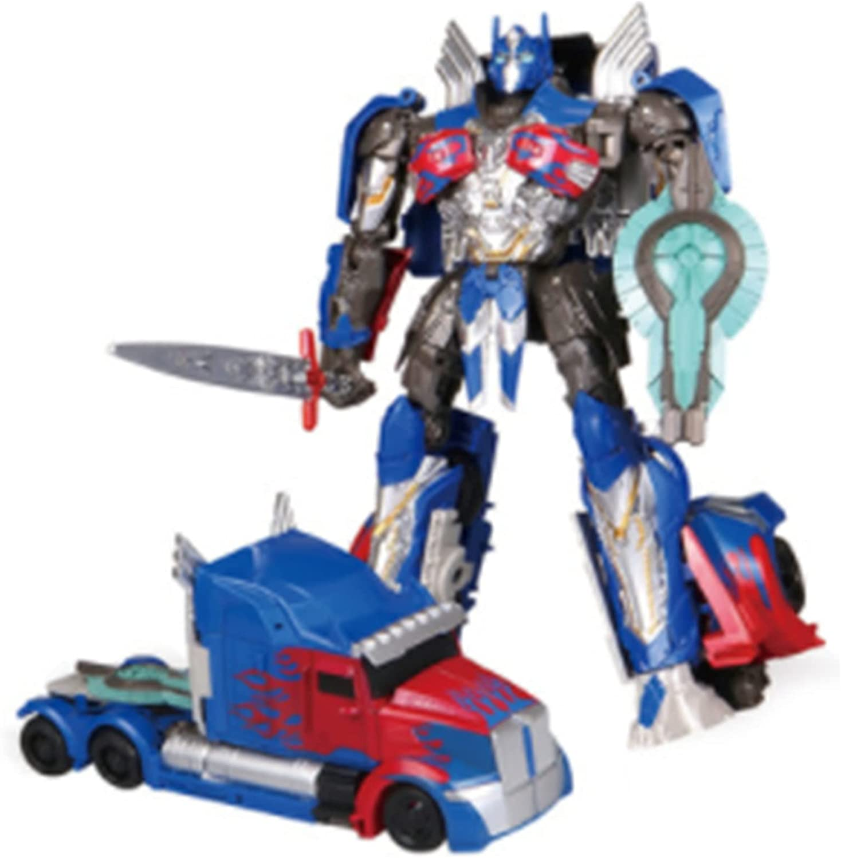 LUSTAR Transformers Juguete Optimus Prime Figuras De AccióN Manual DeformacióN Optimus Prime Car Modelo De Juguetes Regalo para Adultos Ventiladores 22 Cm (8,7 Pulgadas)