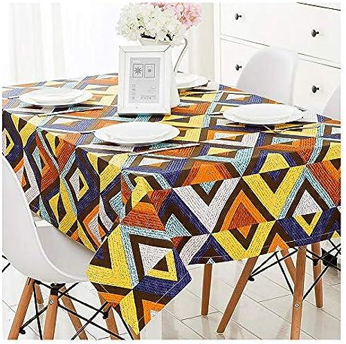 HQQ Tischdecke mit geometrischem Muster Rechteckiges Couchtischkissen Modern Minimalist Home Nordic (Farbe   A, Größe   1.4m1.8m)