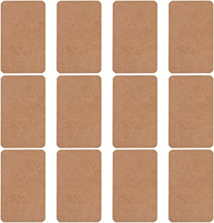 Tomaibaby 100 Pcs Kraft Paper Blank Cards Vocabulary Word Message Card Note Paper Business Cards for DIY Invitation Gift P...