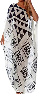 Women Bathing Suits Caftan Long Cover Up Loose Beach Dress Summer Swimsuits