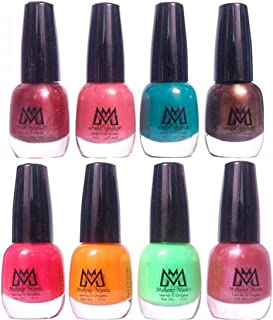 Makeup Mania Premium Trendy Nail Paint Combo (Radium Green, Coffee, Pink, Peach, Sea Green, Light Brown (MM# 26-41))