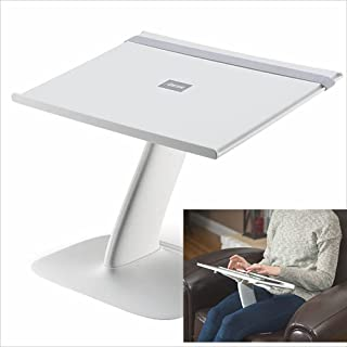Portable Laptop Stand Riser for Desk, Chair and Car. A Creative Ergonomic Adjustable Laptop Computer Table, Support Holder, Rest, Or Tray (Brighter White)