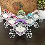 OUYAWEI Pretty Iron Carriage Wedding Candy Box Candy Chocolate Gift Container Party Household Decoration