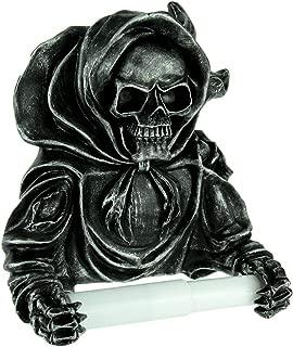 Grim Reaper Skeleton Polyresin Toilet Paper Holder